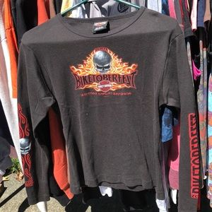 Tops - Black long sleeve Harley Davidson shirt